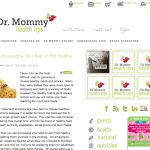 Dr. Mommy Health Tips 12808017330481 150x150 Web and Blog Design